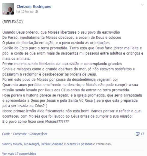 Clerizon Rodrigues - Igreja Apostólica