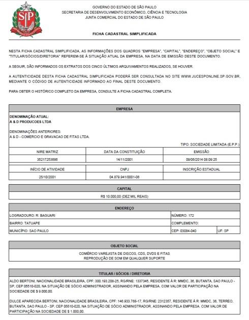 A&D Produções - Dulce Aparecida Bertoni