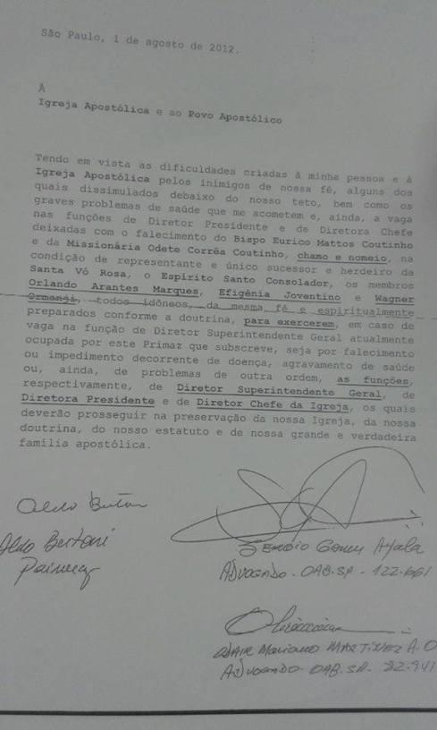 Carta Orlando Arantes - Aldo Bertoni