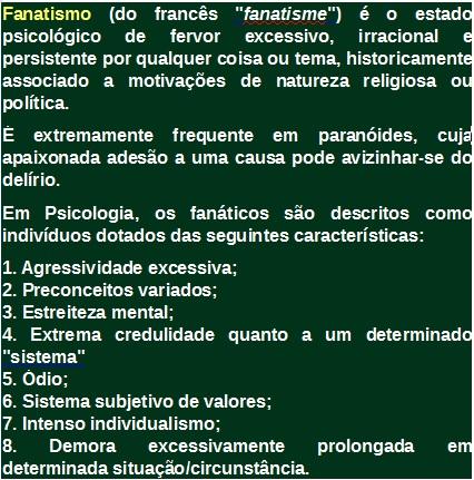 Fanatismo - Igreja Apostólica