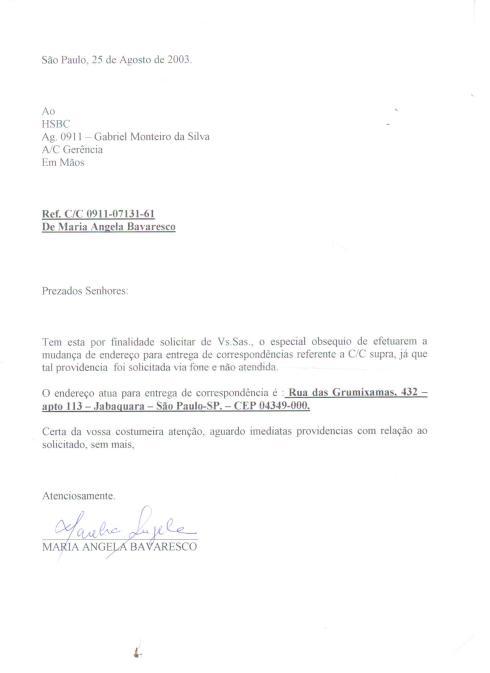 Conta HSBC Amante do Aldo Bertoni